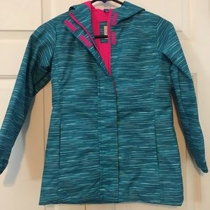 Girls teal and pink light jacket